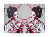 Mirror Geisha Reproduction d'art par Abstract Graffiti