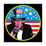Pop Art Uncle Sam Circle