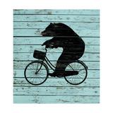 Bear on Bike on Old Board