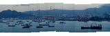 Stitched Photography of Hong Kong Harbor
