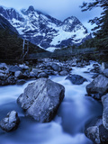 Rio Del Frances Cascades Out of the Valle Frances in Torres Del Paine National Park