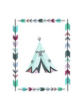Teepee Teal and Purple