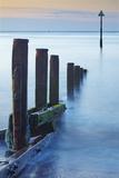 A Peaceful Dawn over Teignmouth Beach  Teignmouth  Devon  England  Great Britain