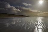 Stormy Sunlight on the Beach at Berrow  Near Burnham-On-Sea  Somerset  Great Britain