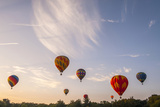 Hot Air Balloons Ascend at Sunrise