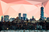 Low Poly New York Art - Manhattan Coral