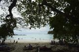 Half Moon Beach  in Manuel Antonio National Park  Costa Rica