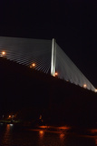 Night View of Panama's Centennial Bridge  Puente Centenario  from the Panama Canal