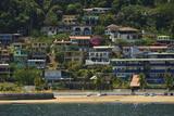 Colorful Houses on Taboga Island Off the Pacific Coast of Panama