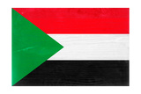Sudan Flag Design with Wood Patterning - Flags of the World Series