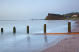 Dawn over Teignmouth Beach  with the Ness Headland in the Background