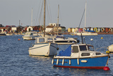 Boats Moored in the Mouth of the River Teign  Just Off the Town of Teignmouth  Devon