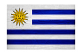 Uruguay Flag Design with Wood Patterning - Flags of the World Series