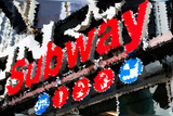 Low Poly New York Art - Subway Sign