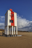 A Historic  Mid-19th Century  Wooden Lighthouse  on the Beach at Burnham-On-Sea