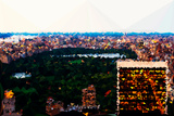 Low Poly New York Art - Central Park at Dusk II