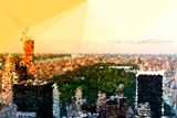 Low Poly New York Art - Central Park at Sunset