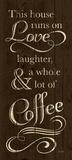 Runs on Coffee Reproduction d'art par N. Harbick