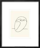 Chouette Reproduction encadrée par Pablo Picasso