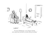 """It's ok  Dr Blinderman—we're all upset Sit back  take a deep breath  a… - Cartoon"