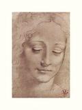 Testa Di Giovinetta Giclée par Leonardo Da Vinci