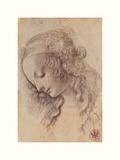 Tête de femme de profil Giclée par Leonardo Da Vinci