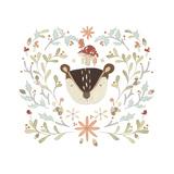 Whimsical Woodland Faces II Reproduction d'art par June Vess