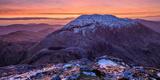 Winter Dawn over Barrslievenaroy  Maumturk Mountains  Connemara  County Galway  Ireland