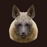 Canine Beast of Pray  Hyena  Low Poly Vector Portrait Illustration