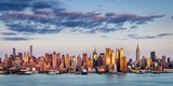Midtown Manhattan Skyscrapers Reflecting Light at Sunset