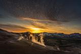 Geothermal Hot Springs  Mud Pots and Fumaroles  Namaskard Close to Lake Myvatn  Northern  Iceland