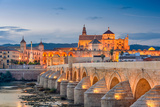 Cordoba  Spain View of the Roman Bridge and Mosque-Cathedral on the Guadalquivir River