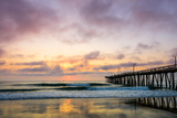 A Beautiful Cloudy Sunrise Captured at the Virginia Beach Fishing Pier