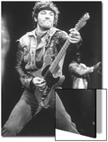 Rock Star Bruce Springsteen Playing Guitar in Concert