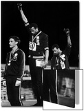 African American Track Star Tommie Smith  John Carlos After Winning Gold and Bronze Olympic Medal
