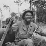 Portrait of Us Army Driver Earlie Colbert (From Maryland)  Ledo Road  Burma  July 1944