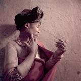 Tembu Tribeswoman Applies Make-Up Made from Raw Ochre  Trankeian Native Territories  Africa 1950