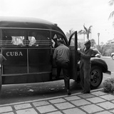Members of the Brooklyn Dodgers Baseball Team Climb onto a Bus During Spring Training  1942