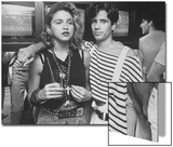 "Singer Madonna with DJ Jellybean Benitez at Opening of Video Club ""Private Eyes"