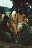 A Couple Stand Together at the Woodstock Music and Arts Fair  Bethel  New York  August 1969
