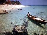 1946: Sam Cunningham Sells Sea Shells to Tourist Along the Seashore in Montego Bay  Jamaica
