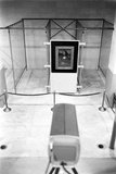 Mona Lisa on Loan to Usa Hanging in Vault at the National Gallery of Art Washington DC  1962