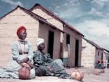 Herero Tribeswomen Wearing Turban and Dangling Earrings  Windhoek  Namibia 1950