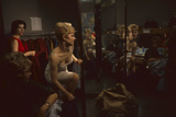 Model Linda Olszewski Changes During an R&K Originals Inc Fashion Show  New York  New York  1960