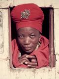 Herero Tribeswomen Wearing Turban and Dangling Earrings  Windhoek  Namibia 1951