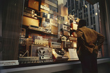 Man Looks at a Window Display of an Electronics Store  New York  New York  1963
