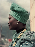Herero Tribeswomen Wearing Turban and Dangling Earrings  Windhoek  Namibia 1953