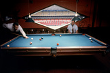 Men Paying Billiards in a Sky Room of Harris County Domed Stadium 'Astrodome'  Houston  TX  1968