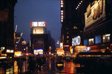 1945: Times Square at Night after Rain  New York  NY