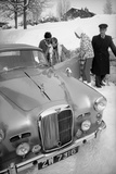 Students Getting in Car at Le Rosey School  Gstaad  Switzwerland  1965